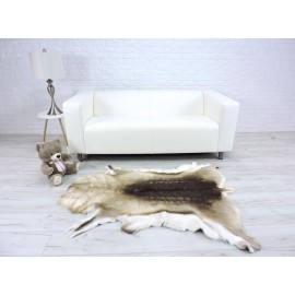 Luxury real fox fur throw blanket 832