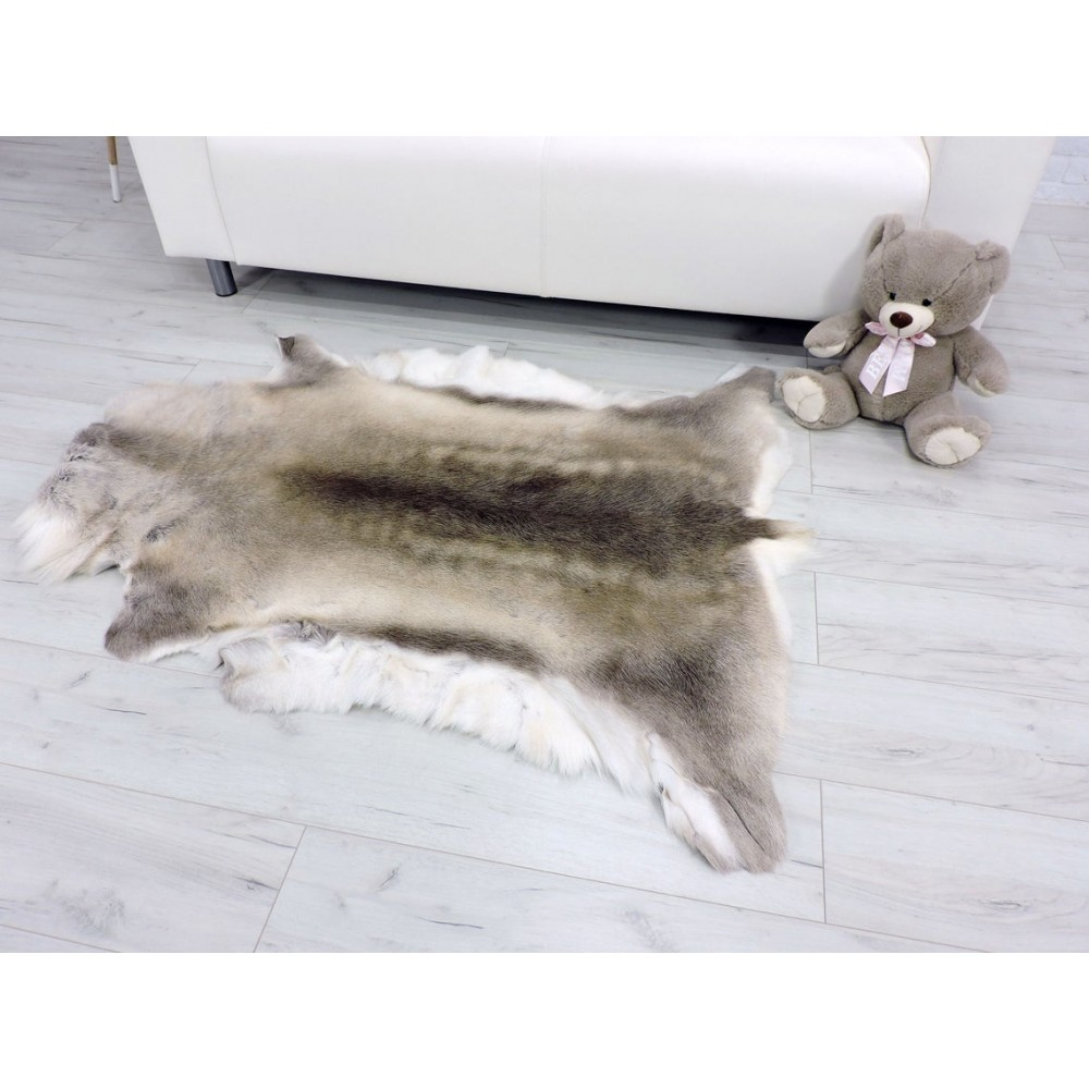 Luxury real rabbit pelts throw blanket 854