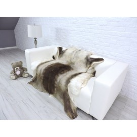 Luxury real fox fur throw blanket 871