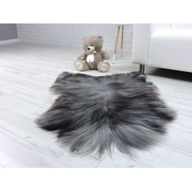 Luxury real fox fur throw blanket 896