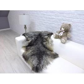 Luxury real silver fox fur throw blanket 969