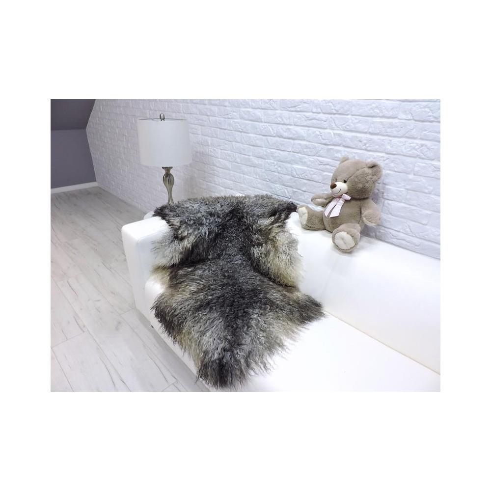 Luxury real fox fur throw blanket 969