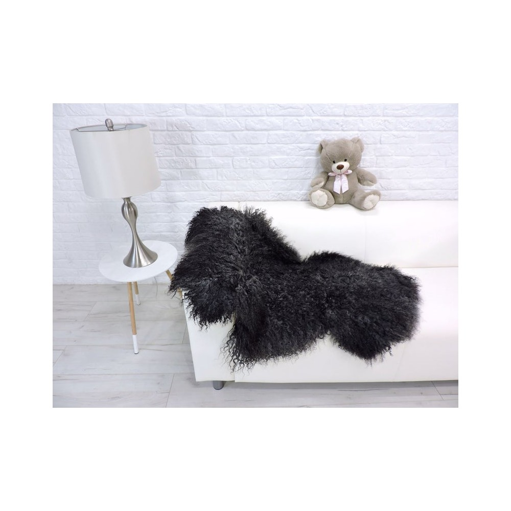 Luxury real fox fur throw blanket 994
