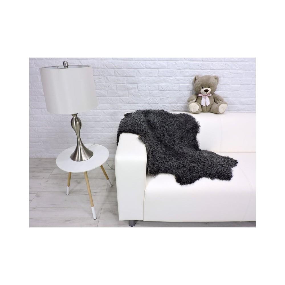Luxury real silver fox fur throw blanket 998