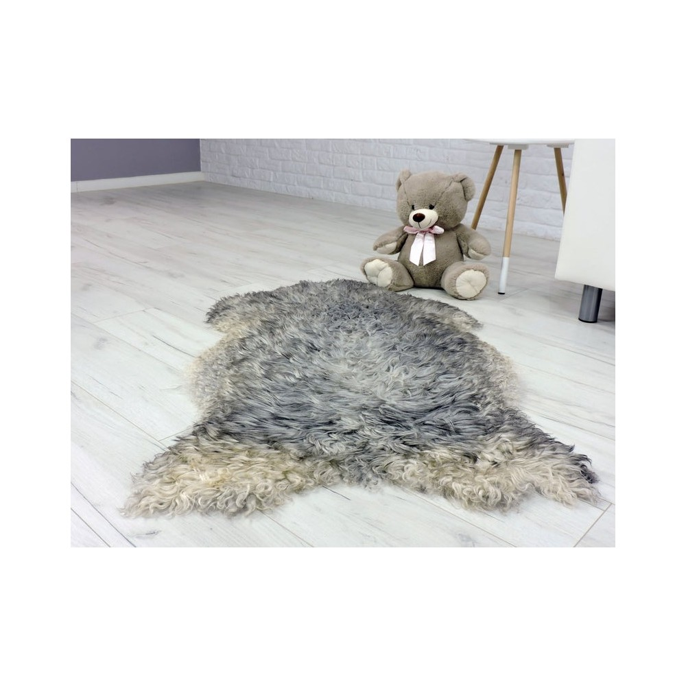 Luxury real silver fox fur throw blanket 05