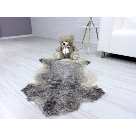 Amazing real muskrat fur throw 779
