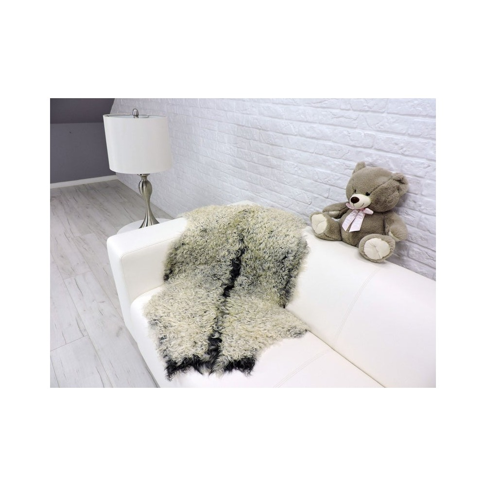 Luxury real mink paws fur throw 505a