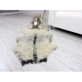Luxury real mink paws fur throw 505b
