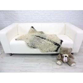 Amazing genuine opossum fur throw blanket 452