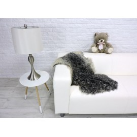 Luxury real fox fur throw blanket i013
