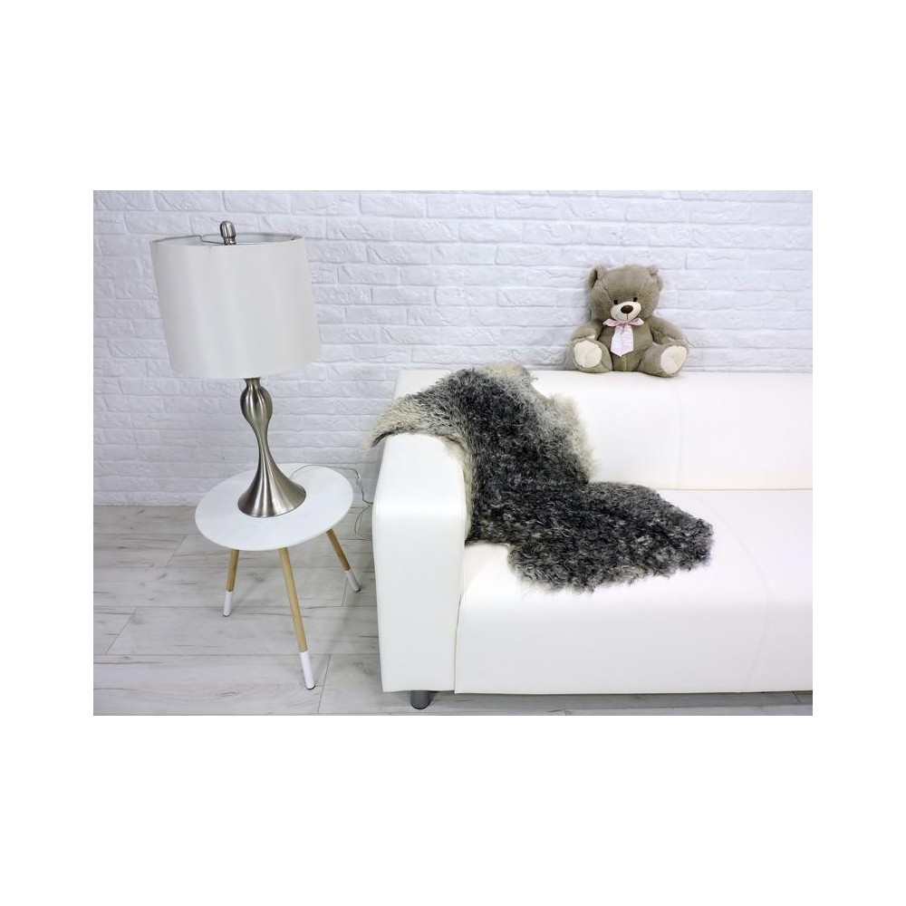 Luxury real silver fox fur throw blanket i013