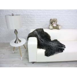 Genuine Tuscan lambskin fur throw blanket 015