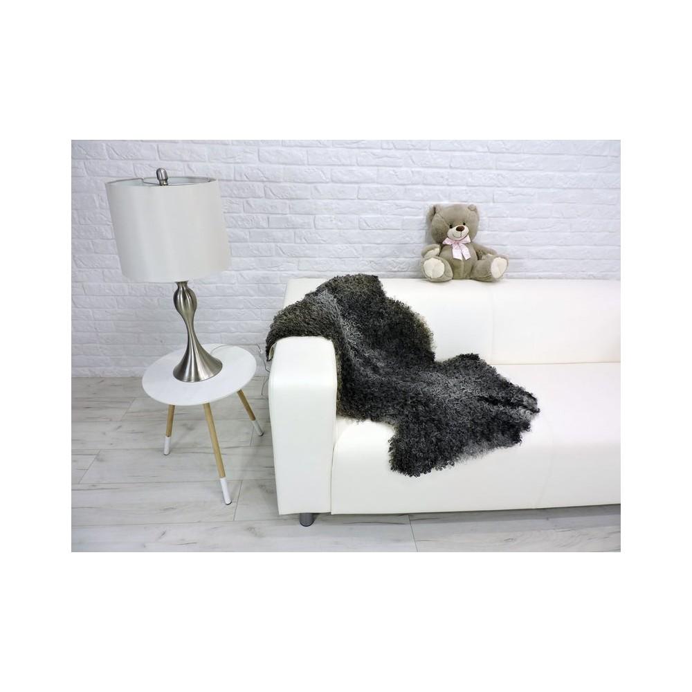 Genuine Tuscan lambskin fur throw blanket 015