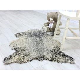 Luxury genuine opossum fur throw blanket 020