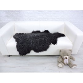 Genuine Italian lambskin fleece throw blanket 025
