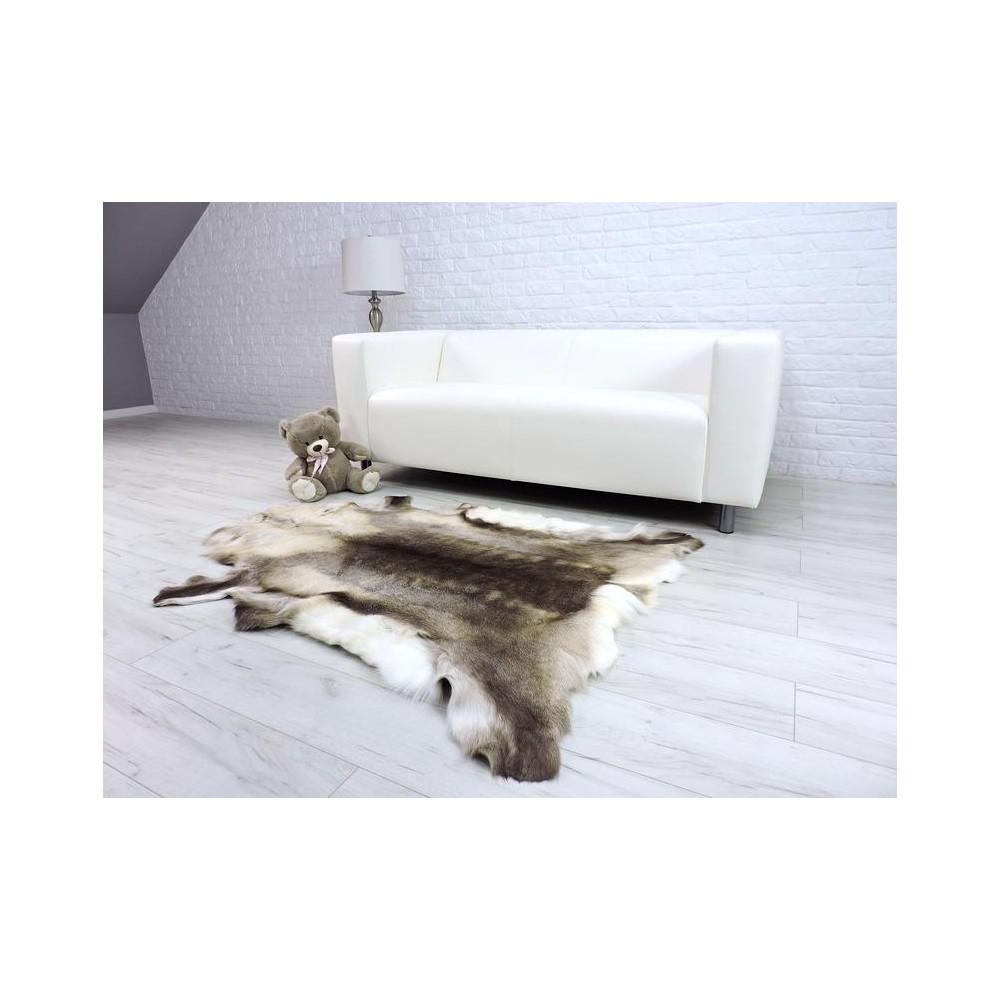 Luxury real fox fur throw blanket 035