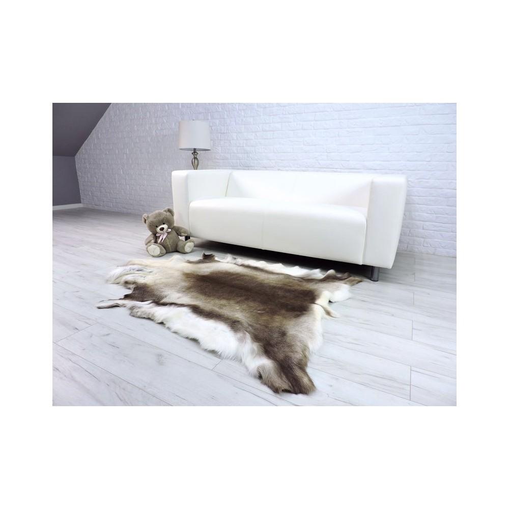 Luxury real fox fur throw blanket 040