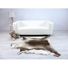 Luxury real fox fur throw blanket 043