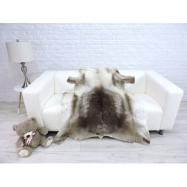 Luxury real fox fur throw blanket 044