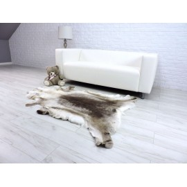Luxury real fox fur throw blanket 045
