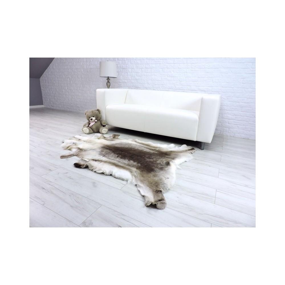 Luxury real fox fur throw blanket 045