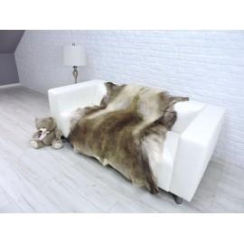 Luxury real fox fur throw blanket 047