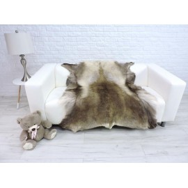 Luxury real fox fur throw blanket 048