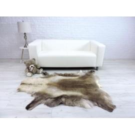Luxury real fox fur throw blanket 049