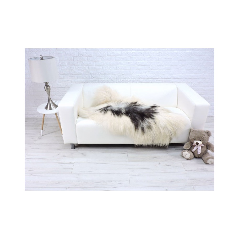 Luxury real silver fox fur throw blanket 051