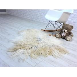 Luxury real fox fur throw blanket 057