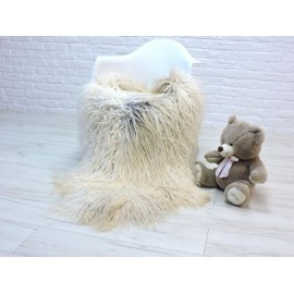 Luxury real fox fur throw blanket 058