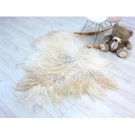Luxury real fox fur throw blanket 058