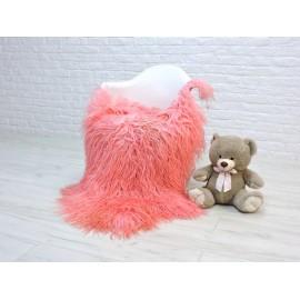 Luxury real fox fur throw blanket 056