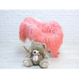 Luxury real Argentina fox fur throw blanket 062