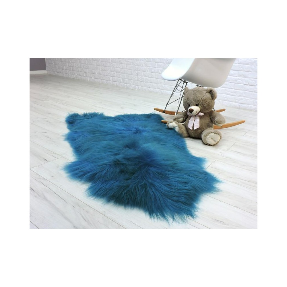 Luxury real fox fur throw blanket 063