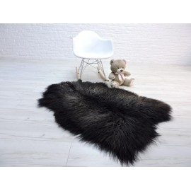 Amazing genuine mink multicolour fur throw blanket 065