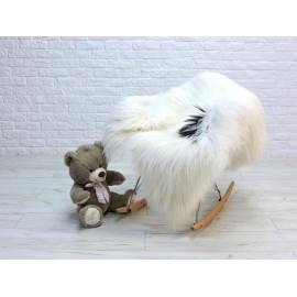 Luxury real fox fur throw blanket 082