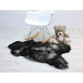 Luxury real fox fur throw blanket 084