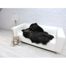Luxury real fox fur throw blanket 098
