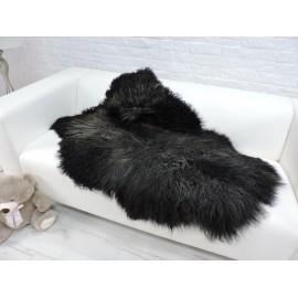 Luxury real fox fur throw blanket 098