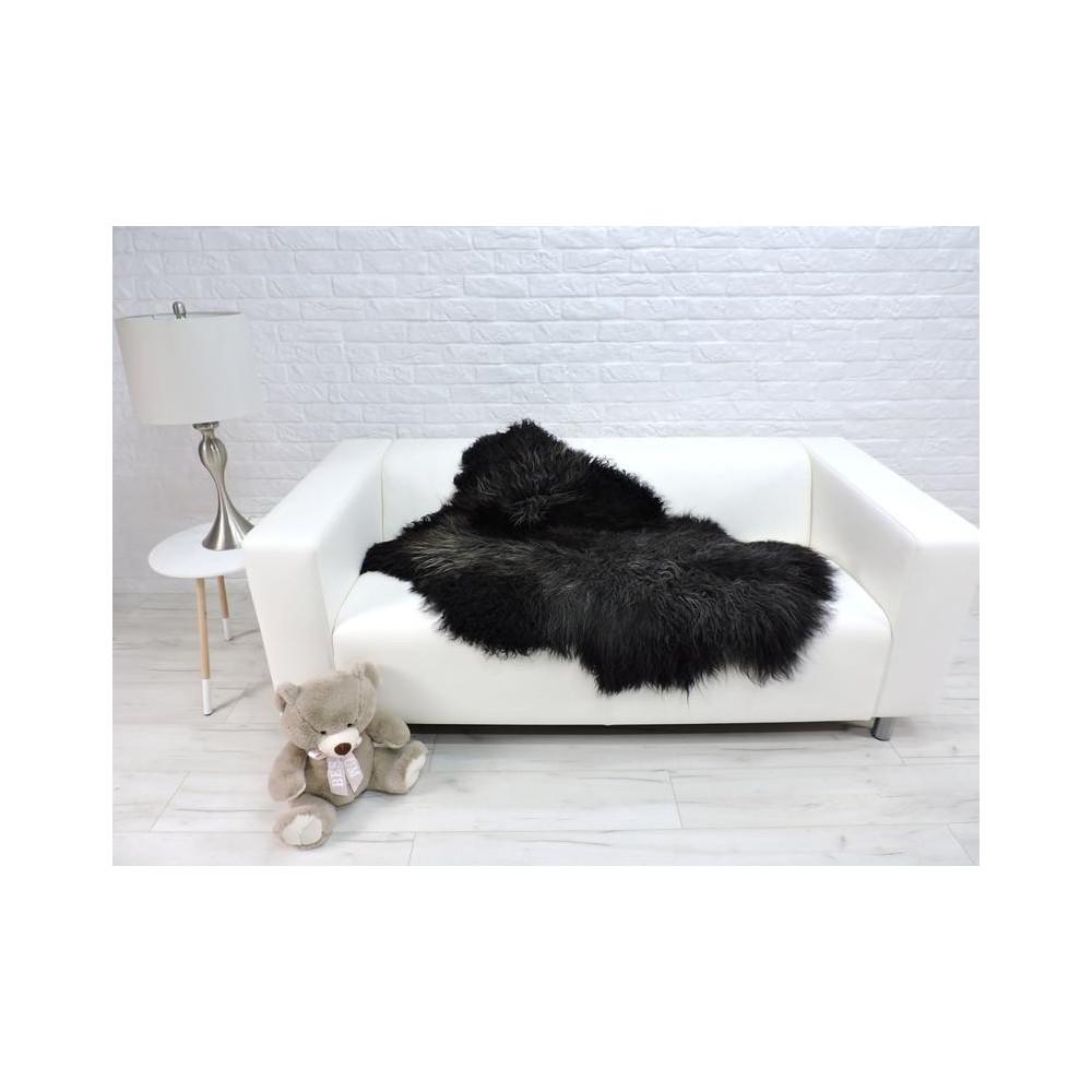 Luxury real fox fur throw blanket 099