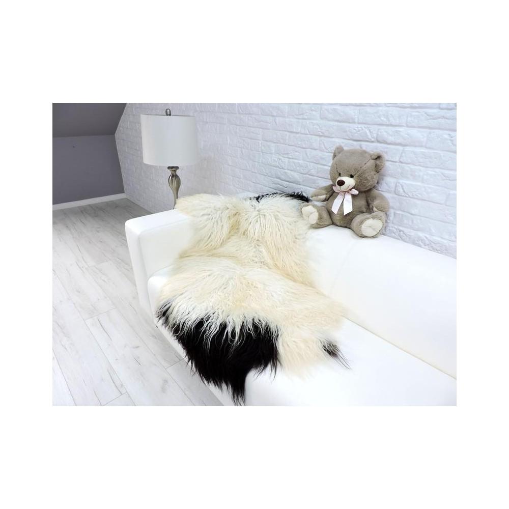 Luxury real fox fur throw blanket mixed colour 102