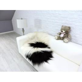 Luxury real fox fur throw blanket mixed colour 105