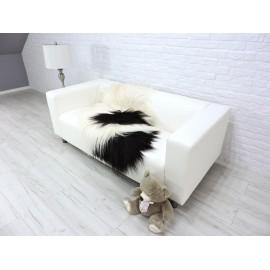 Luxury real fox fur throw blanket grey colour 106