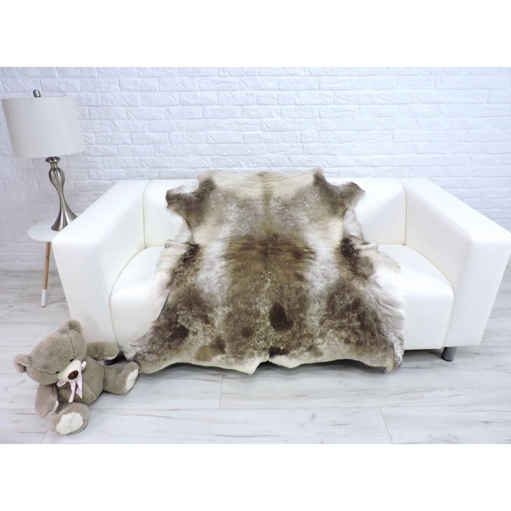 Luxury genuine fox fur throw blanket dyed powder pink colour 120