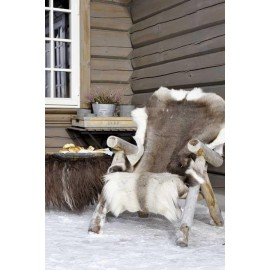 Luxury genuine silver fox fur paws throw blanket 137