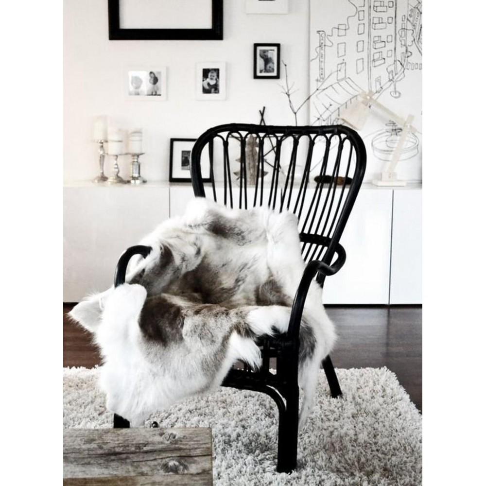 Luxury genuine silver fox fur paws throw blanket 138