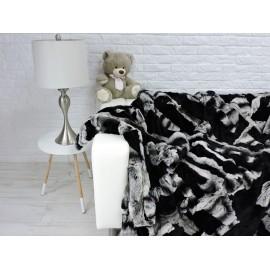 Luxury real kangaroo fur throw blanket 143