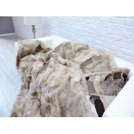 Genuine Italian lambskin fleece throw 178