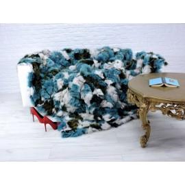 Luxury real kalgan fur throw/blanket 173